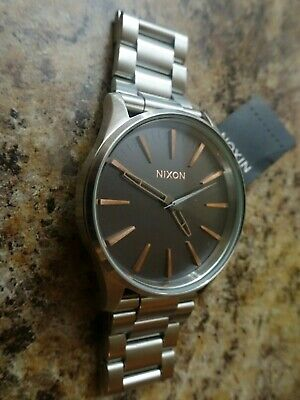 2064 38 By Ss Gold The Nixon Greyrose Sentry Watch A450 HIeWDE29Y