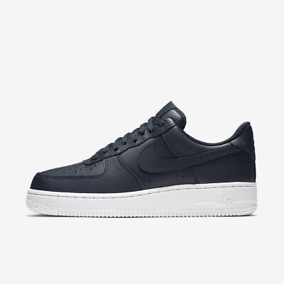 New Men's Nike Air Force 1 '07 Shoes (AA4083-400)  Obsidian / White-Obsidian