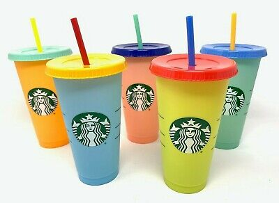 Starbucks Color Changing Cold Venti Cup With Lid Straw SINGLE CUP You Pick