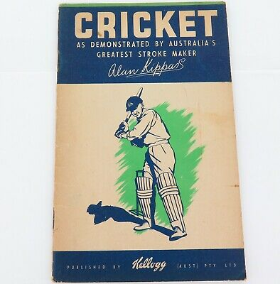 """.Rare Vintage Kellogg's Cricket Booklet. """"Cricket As Demonstrated By Alan Kippax"""