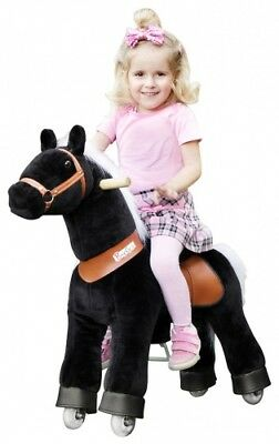"Ponycycle Caballo ""Black Beauty"" Small y Medium Caballito Balancín sobre Ruedas"