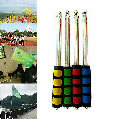 Portable Extendable 2M/1.4 Telescopic Handheld Flag Pole Tool For Flags Windsock