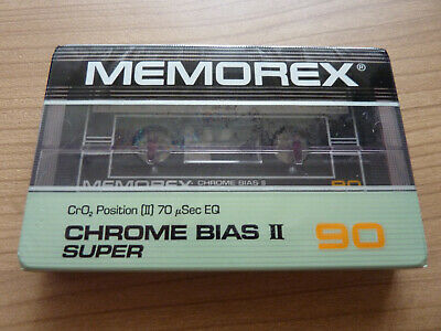 MEMOREX CROME BIAS II SUPERME audio cassette sealed
