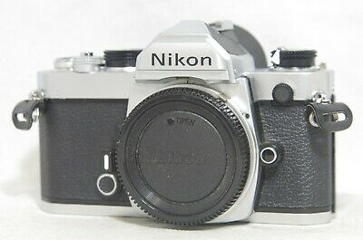 Nikon FM 35mm SLR Film Camera Silver Body Only SN2119839 from Japan