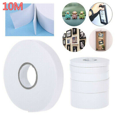 10M/Roll Super Strong Double Faced Adhesive Tape Foam Double Sided Tape White AU