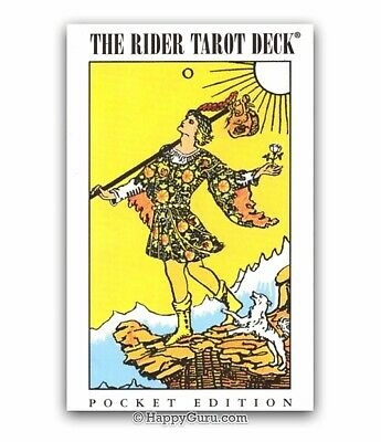 """""""The Rider Waite Tarot Deck"""" (Pocket Edition) and Booklet (Tarot Cards)"""