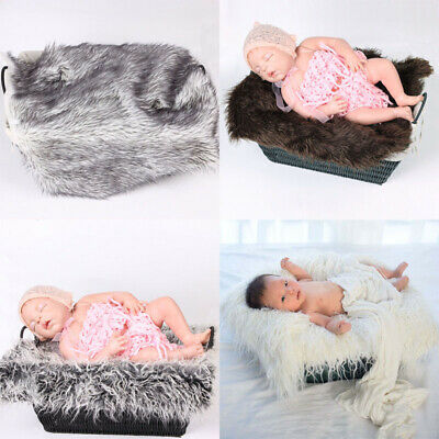 Mat Fur Wrap Rug Stretch Infant Baby Soft Girls Photography Blanket Backdrop