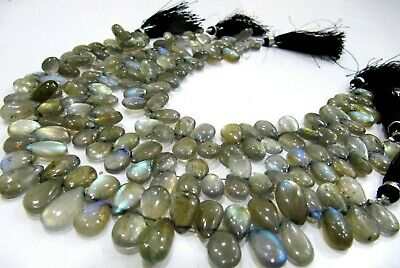 Natural labradorite pear shape size 10 to18mm strand 10 inches long.