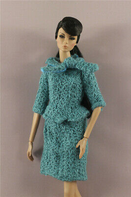 Fashion  OL Green Top+Skirt  dress Suit  clothes Outfit  For 11.5in.12 inch Doll