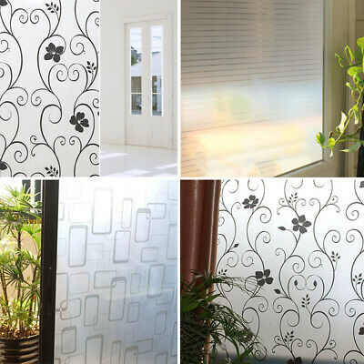 Frosted Window Film BUBBLE FREE Frost Etched Privacy Glass Self Adhesive Vinyl S