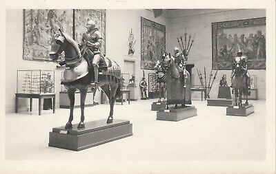1930s  RPPC Real Photo Postcard KNIGHTS IN ARMOR CLEVELAND MUSEUM OF ART 191