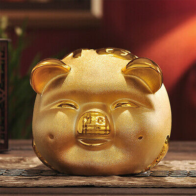 1pc Gold Chinese Happiness Pig Piggy Bank Money Box Gift 2019 Year of the Pig