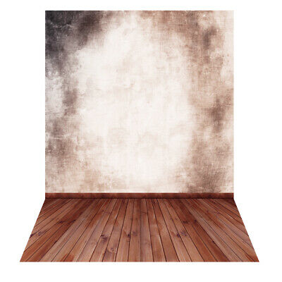 Andoer Photography Backdrop Wall WoodenFloor for Baby Studio Portrait Shoot N4X0