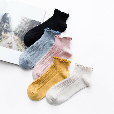 Women Spring Solid Color Summer Thin Section Curling Socks Loose Socks 8C