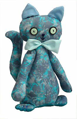 Casey soft toy cat sewing pattern.    Makes a cute doorstop or softie to hug