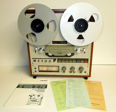 TEAC X-10R Reel to Reel  4 Track Tape Recorder Player Recording SERVICED w/Recap