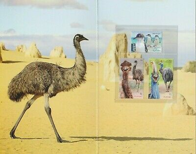 AUSTRALIA 2019 - FLIGHTLESS BIRDS design set of 3 MNH  - Wildlife PO STAMP PACK