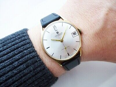 Nice Rare German Junghans Max Bill Design Vintage Wristwatch From 1960'S!