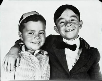 1930s SPANKY & ALFALFA In OUR GANG Duplicate 8x10 Photo Transparency gp
