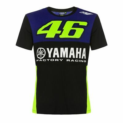 Official 2019 Valentino Rossi VR46 Yamaha Racing Black Blue MotoGP Men's T-Shirt