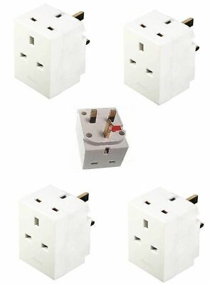 New Fused 3 Way Gang Socket Multi Plug 13A 240V Ace Mains Uk Plug Adaptor