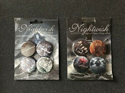 Spille Pins Button Badge Official 25mm - NIGHTWISH - Band Gothic Symphonic Metal