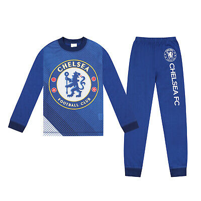 Chelsea FC Official Football Gift Boys Sublimation Long Pyjamas