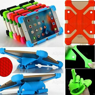 "Universal Silicone Case For Various 10""Inch Tablets Gel Rubber Cover Stand - UK"