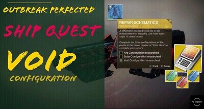 Outbreak Perfected ship quest | Void confuguration | Destiny 2 | PS4