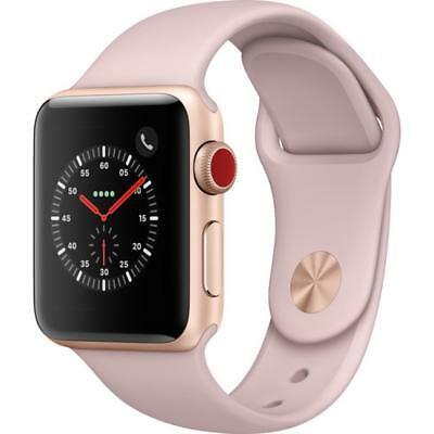 Apple Watch Series 3 - 42mm - Gold Case - Pink Sport Band (GPS + Cellular Data)
