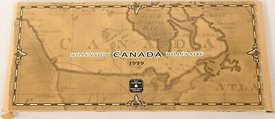 1999 Canada Millennium 12 Quarter Set W/ OGP Box and Sleeve BU Unc 25c