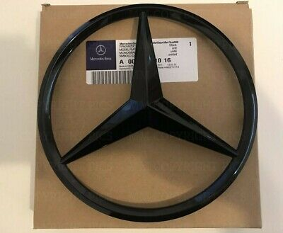Mercedes Gloss Black Front Grille Star Badge A C GLA CLA ML CLS E Class OEM Clip