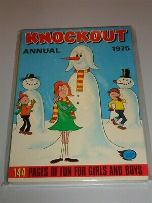 Knockout 1975 Fleetway British Annual Nice Second Hand Copy<