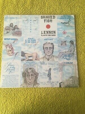 John Lennon Shaved Fish - 1st - EX UK vinyl LP album record PCS7173 APPLE 1975