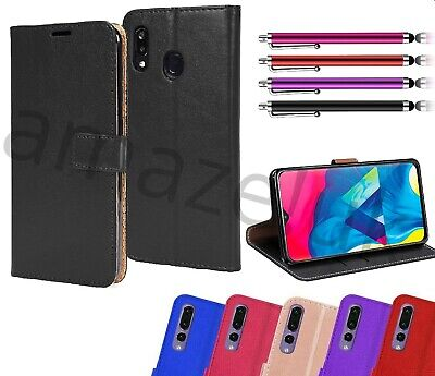 For Samsung Galaxy A20E Case Flip Leather Wallet Gel Bumper Phone Cover a20e