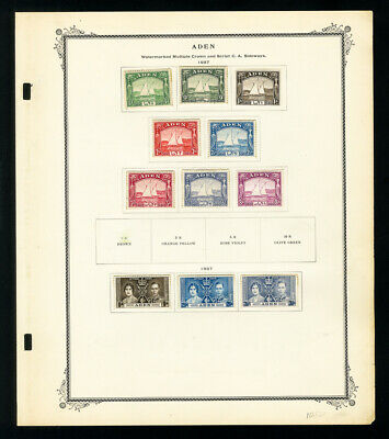 Aden 1937 to 1950s Vintage Stamp Collection
