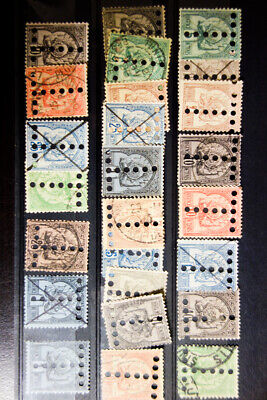 Tunisia Scarce Early Specimen Stamps w/ punch holes Selection