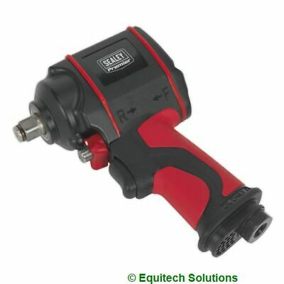 "Sealey SA6002S Air Impact Wrench Gun 1/2"" Sq Drive Stubby Twin Hammer Nut Runner"