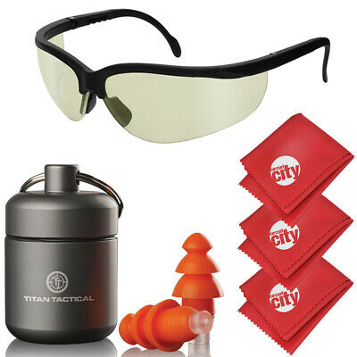 Titan Tactical Eyes Ear Protection 29NRR Shooting Ear Plugs + Tinted Glasses