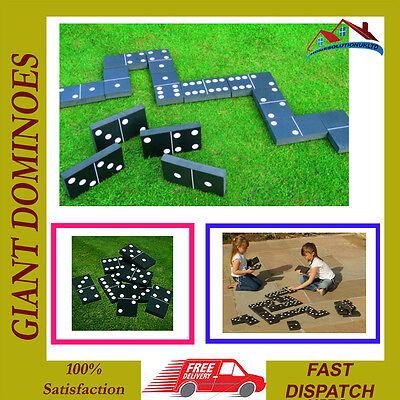 Giant Dominoes Summer Garden Outdoor Family Kids Game Toy Christmas Party Fun