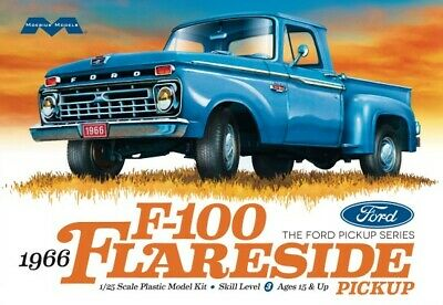 1/25 1966 Ford F100 Flareside Pickup Truck Plastic Model Kit Moebius Models MIB