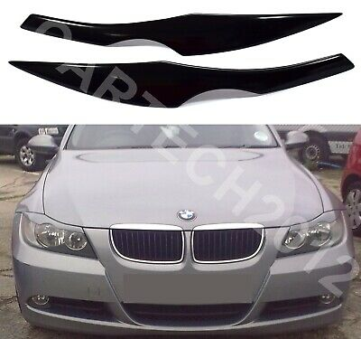 Fits BMW E90, E91 Headlight  Eyebrows, Eyelids Cover ABS PLASTIC ver2, tuning