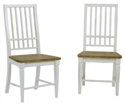 Dining Chair in Distressed Light Oak Finish - Set of 2 [ID 3645585]