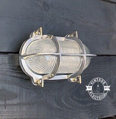 Industrial Oval Bulkhead Solid Wall Or Ceiling Light ~ Outdoor ~ Bathroom