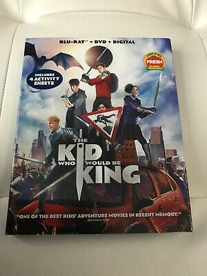 The Kid Who Would Be King Blu-ray + DVD + Digital Brand New