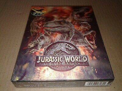 Jurassic World Fallen Kingdom 4K Steelbook Double Lenticular FullSlip Blufans