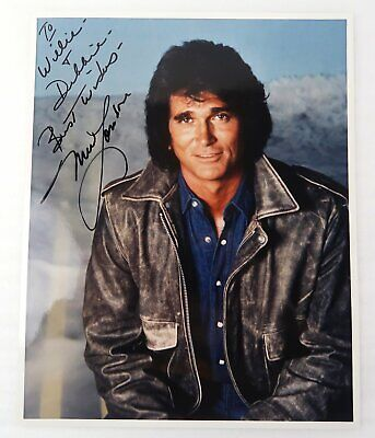 Michael Landon Highway to Heaven Signed Promo 8x10 Color Inscribed NICE