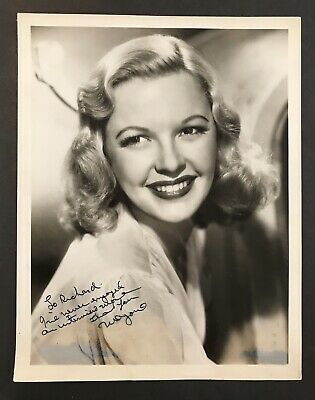 Published Autograph Actress Marjorie Reynolds Signed Celebrity Photo Hollywood