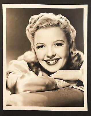 Actress Marjorie Reynolds Signed Celebrity Photo Autograph Hollywood Star