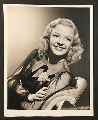 Marjorie Reynolds Signed Celebrity Photo Autograph Hollywood Star